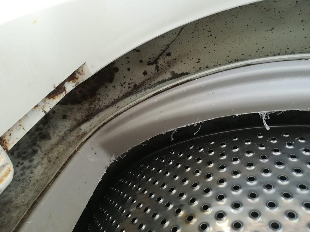 Penészes mosógép.